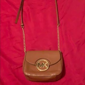 Authentic Michael Kors gold chain small crossbody